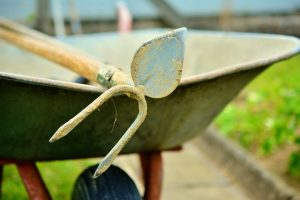 Schubkarre-Gartenarbeit